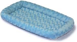 MidWest Quiet Time Fashion Pet Bed, Powder Blue, 24 x 18