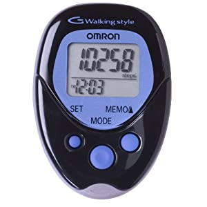 Omron Hj-113 Pocket Pedometer, Walking Style, Black