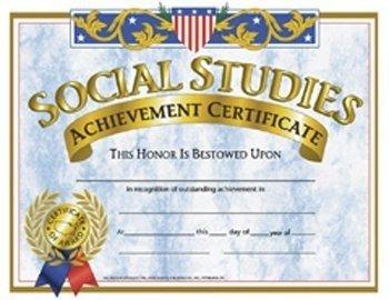 Certificates Social Studies 30/pk
