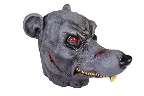 Dead Zombie Rat Latex Mask Rodent Scary Ratman Adult Costume Accessory Grey New