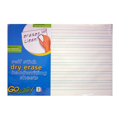 Dry Erase Sheets Lined 17 X 22 3pk