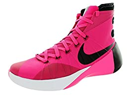 Nike Men\'s Hyperdunk 2015 Vivid Pink/Black/Pink Pow/Wht Basketball Shoe 9.5 Men US