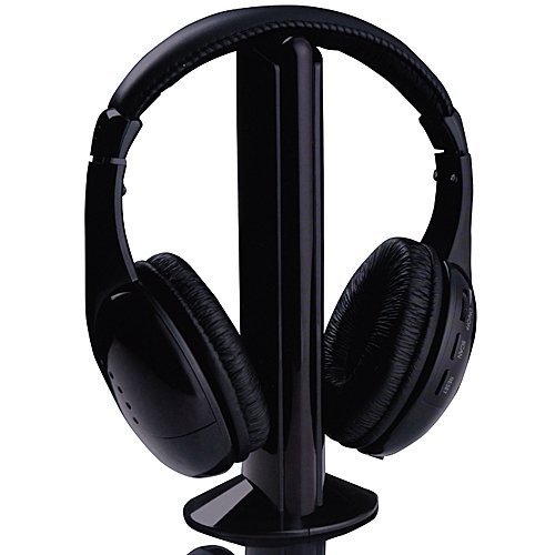 New 5 In 1 Wireless Headphone Earphone Black For Mp3 Mp4 Pc Tv Cd Fm Radio **Laptop Parts Store**