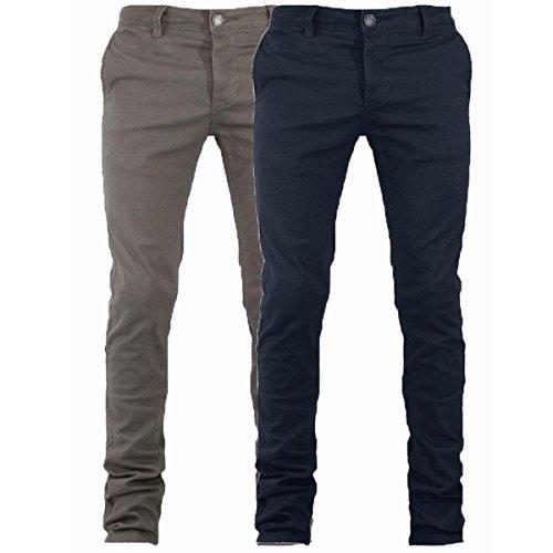 Pantalone Uomo Mod. Tasca America Chino Slim Cotone Elastico Colori Vari GIOSAL-Nero-54