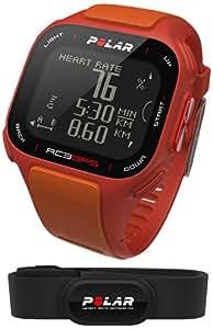 Polar RC3 Cardiofréquencemètre GPS avec ceinture de fréquence cardiaque Rouge