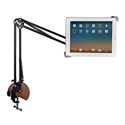 Okeyn Universal Tablet Stand, Sturdy Aluminum Desk Arm for iPad 2,3,4, Surface RT, Galaxy Tab, Fire HD HDX and other Windows / Android Tablets with 7-11 inches (Tablet Stand)