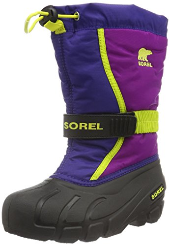 Sorel Youth Flurry, Stivali da Neve Unisex - Bambini, Blu (Grape Juice, Bright Plum 484Grape Juice, Bright Plum 484), 32 EU