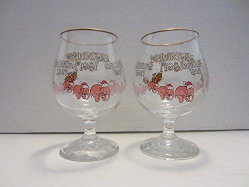 set-of-2-delirium-tremens-noel-belgian-beer-huyghe-brewery-pink-elephant-christmas-holiday-25cl-25l-