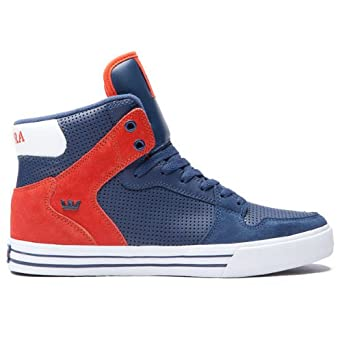 Amazon.com: Supra Vaider Shoes Navy/Orange: Fashion Sneakers: Shoes