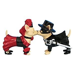Westland Giftware Aye Chihuahua Chi and Zorro Salt and Pepper Shaker Set