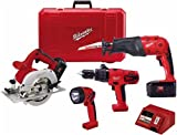 Factory-Reconditioned Milwaukee 0926-84 18-Volt Ni-Cad Cordless 4-Tool Combo Kit