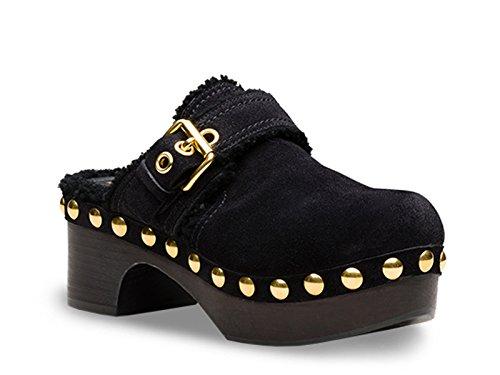 Zoccoli Car Shoe in pelle di pecora nero - Codice modello: KDZ31L JFT F0002 F 060 - Taglia: 41 IT