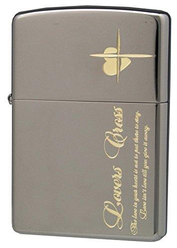 ZIPPO (Zippo) oil lighter NO200 lovers / Cross-message SIDE black x Gold 63050498