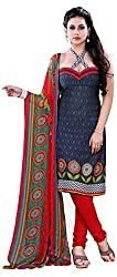Swaman Women's Synthetic Dress Material(0729LAD00023,Multicolor)