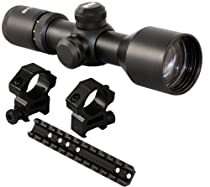 M1SURPLUS Tactical 3-9x40 Compact Rifle Scope + Rail Mount + Scope Rings For Marlin Camp 9 45 992M, 989, .22, 9, 45, 30AS, 30AW, 36, 62, 93, 336, 336C, 375, 444, 1993, 1894 Cowboy, 1895, Mossberg 640, Western Field 740