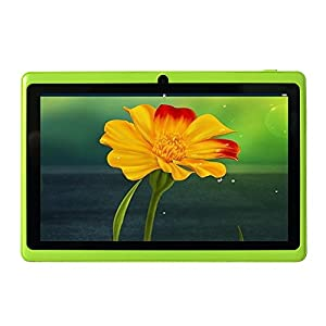 """Yuntab 7"""" 8GB Q88 Allwinner A23 Capacitive, Google Android 4.4 ,Tablet PC with Dual core and Dual Camera Google Play Pre-loaded, External 3G ,3D-Game Supported 5 Point Multi Touch Screen Green"""