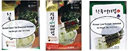 Korean Seaweed Lava Snack Sampler - Original, Green Tea and Low Salt (9x0.18 Oz Packets)
