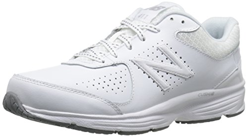 New Balance Women's WW411WT2 Walking Shoe, White, 10 B US