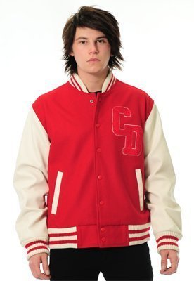 Criminal Damage Letterman Jacket - Red