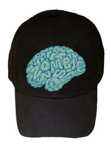"""Zombie Need Brain"" Parody Cartoon Hungry For Brains - 100% Adjustable Cap Hat"