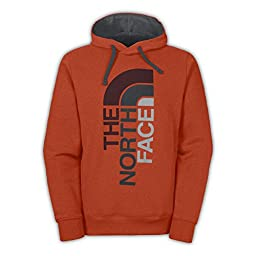 The North Face Trivert Pullover Hoodie Mens Seville Orange Heather/Asphalt Grey 3XL