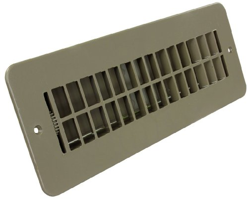 JR Products 288-86-AB-TN-A Tan Dampered Floor Register (Rv Heater Vent Cover compare prices)