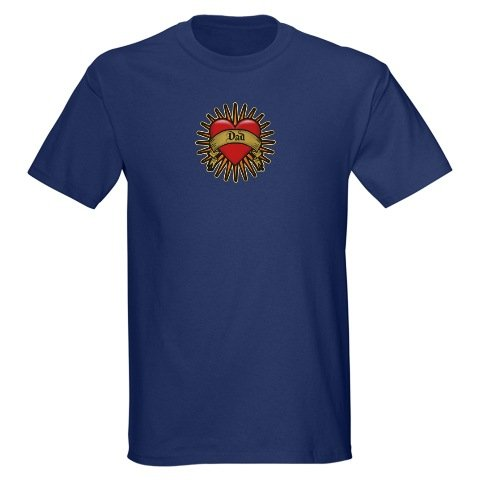 This Red Heart Dad Tattoo, Father's Day design for t-shirt and gift items is for the Fathers in your life. For more Father's Day tee shirts and gifts visit