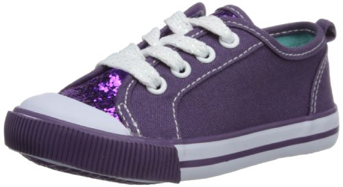 Pumpkin patch Girls Glitter Sneakers Boysenberry Low-Top W3FW30019 4 UK Child, 20 EU, 4 US Child