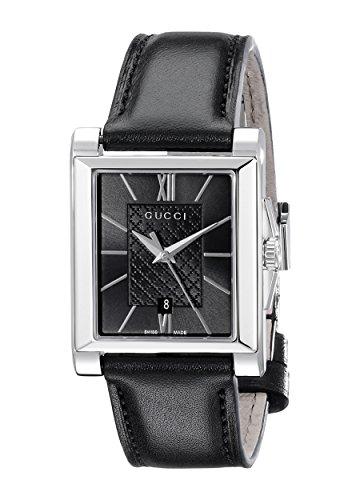Gucci  YA138503 - Reloj de cuarzo para mujer, con correa de acero inoxidable, color negro