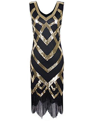 PrWomen's Beads & Sequins Fringe Hem