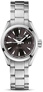 Omega Seamaster Aqua Terra Teak Grey Dial Stainless Steel Mens Watch 23110306006001