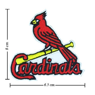 St Louis Cardinals Baseball Style-1 Embroidered Sew On Patch at Amazon.com