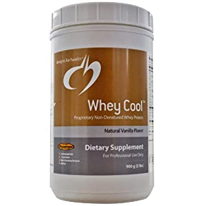 Designs for Health - Whey Cool Natural Vanilla Flavor 900 Gms