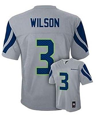 Russell Wilson Seattle Seahawks Grey Youth Jersey