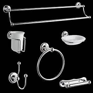 Hudson reed set ensemble accessoires salle de bain design r tro traditionnels 6 el ments - Accessoires salle de bain design ...