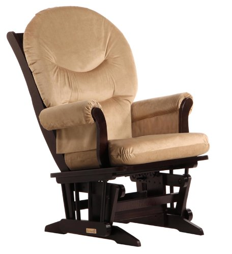 Dutailier Sleigh Glider, Light Brown Microfiber - 1