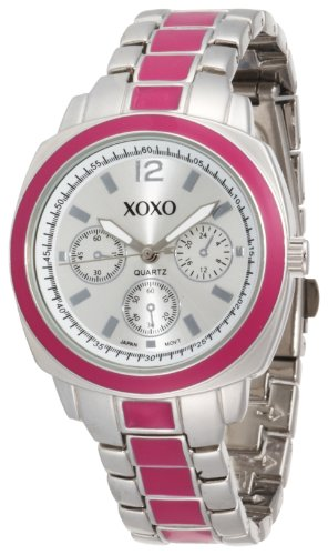 XOXO Women's XO111 Silver Dial Silver-tone and