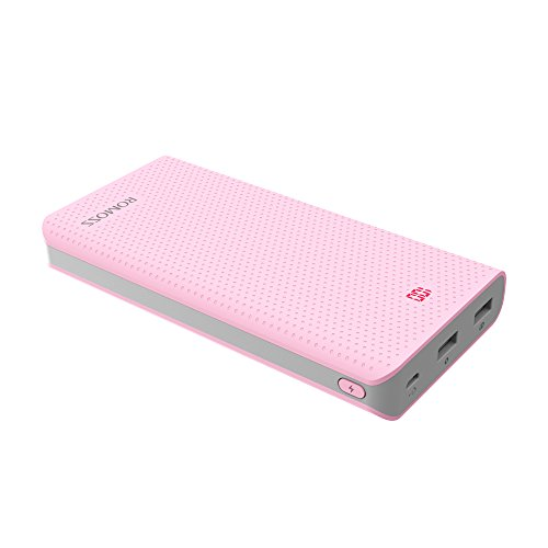 ROMOSS Sense 6 LED 20000mAh Portable Charger, 2-Port Ultra 20000mAh High Capacity External Battery Power Bank with 3.1A Output High Speed Charge for iPhone, Samsung Galaxy and More - Pink (Iphone 5 Color Conversion compare prices)