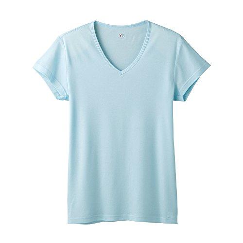 (グンゼ)GUNZE YG(ワイジー) DRYシリーズ/ALL SEASON VネックTシャツ(短袖) YV0117 48 アクア M