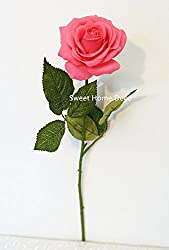 Sweet Home Deco 17'' Real Touch Rose Artificial Single Spray from Sweet Home Deco