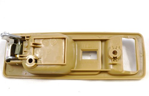 PT Auto Warehouse HO-2380ME-FL - Inside Interior Inner Door Handle, Beige/Tan Housing with Chrome Lever - with Power Lock Hole, 2-Door Coupe, Driver Side trimark 30900 door lock