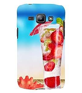Printvisa Yummy Strawberry Summer Drink Back Case Cover for Samsung Galaxy J2::Samsung Galaxy J2 J200F