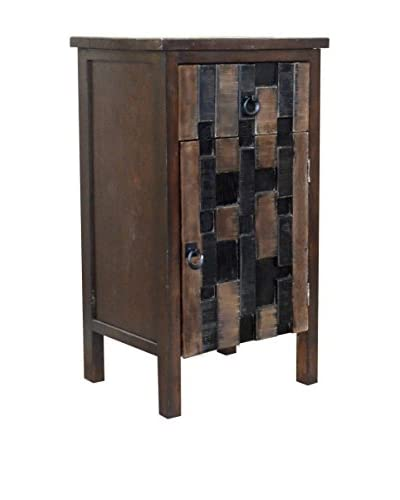 Gallerie Décor Mosaic 1-Drawer & 1-Door Cabinet, Brown