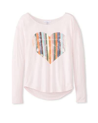 O'Neill Girl's 7-16 Heart Of Gold Tee  [Cradle Pink]