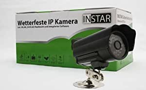 INSTAR IN-2905 PoE 10046 wetterfeste PoE Netzwerkkamera für Außenbereich (24 LED Infrarot, Nachtsicht, 0,3 Megapixel CMOS-Sensor, IR Cut Filter, Bewegungserkennung) schwarz