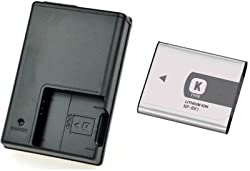 NP-BK1 + BC-CSK For Sony DSC-W180 DSC-W180 Camera Battery Charger