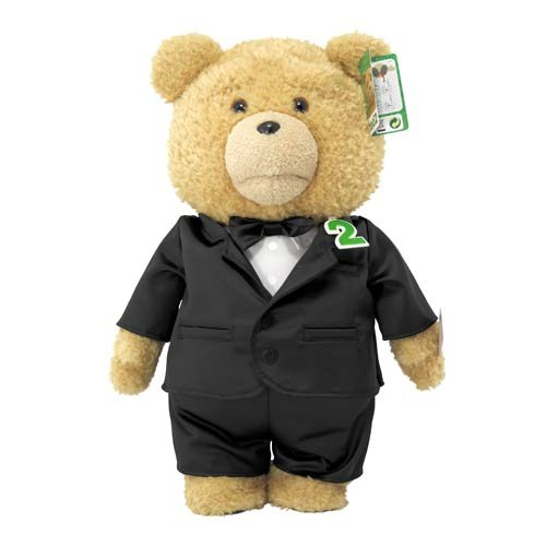 """Commonwealth Ted 2 Ted in Tuxedo R-Rated Talking Teddy Bear Plush, 24"""""""