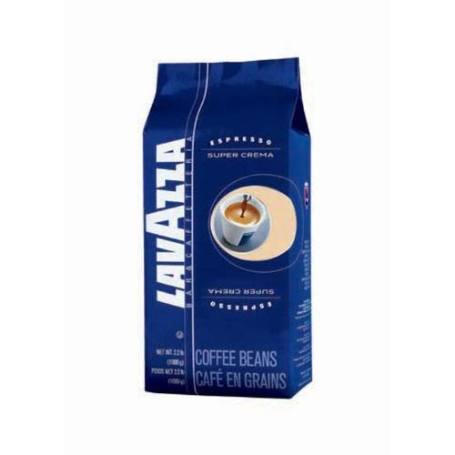 Lavazza Super Crema Espresso Whole Bean Coffee, 2.2-pound Bag 2-pack