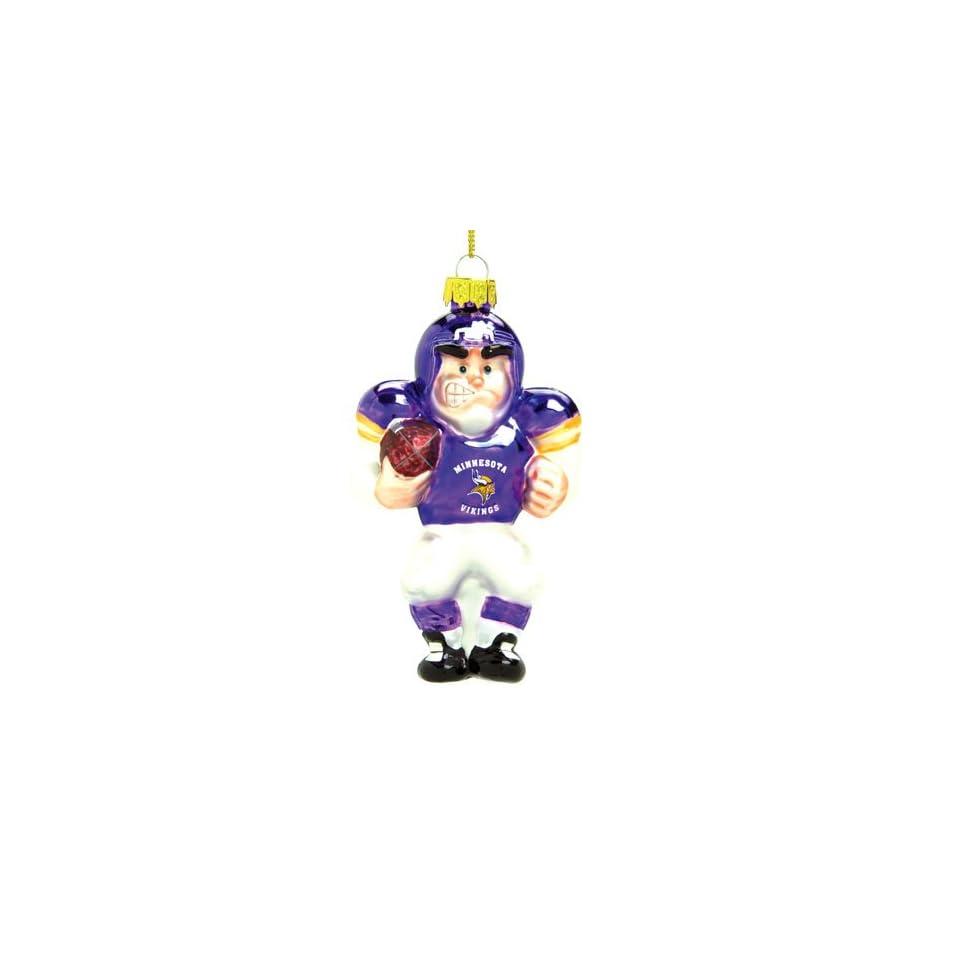 Minnesota Vikings Nfl Glass Player Ornament (5 Caucasian)