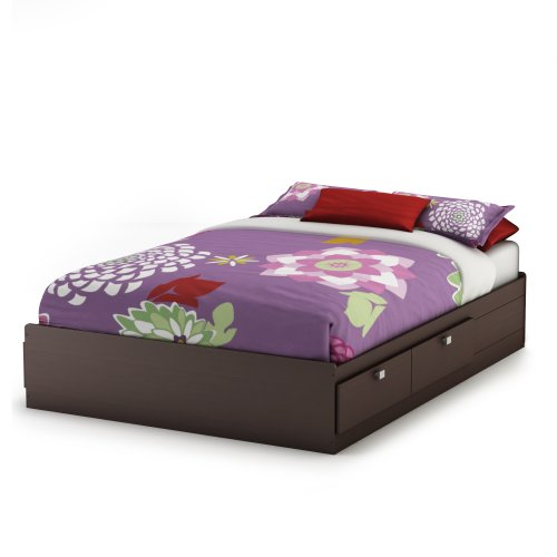 South Shore Furniture Cakao Collection Full Mates Bed, Chocolate front-636171